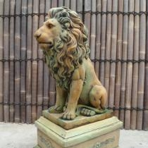 Large Lion on Pedestal