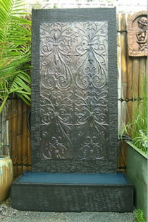 Antique Abstract Wall Fountain