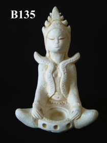 Balinese Figurine, Lady & Bowl
