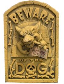 Beware of Dog Plq
