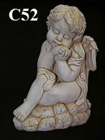 Large Side Sitting Cherub