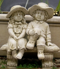 Boy And Girl On Seat