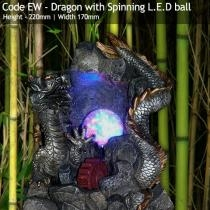 Dragon with Spinning LED Ball