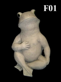 Sitting Frog, Hand on Chest