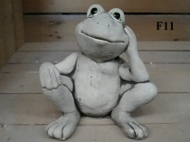 Sitting Frog, Head on Knee