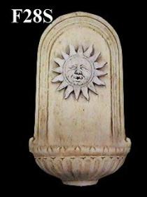 Oval Wall Fountain with Sun*