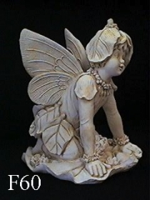 Large Fairy Kneeling on Leaf