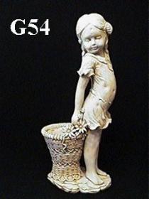 Girl & Basket Planter, Large