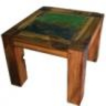Boatwood Square Stool