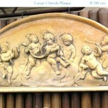 Large Cherub Plaque