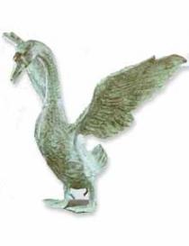 Open wing duck
