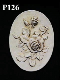 Oval Rose Plaque