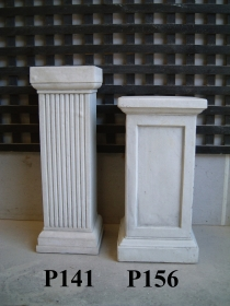 Fluted Tall Square Pedestal