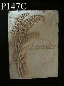 Single Flower Plaque, Lavender