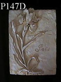 Single Flower Plaque, Iris