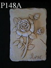Medium Flower Plaque, Rose