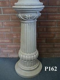 Tall Round Fluted Pedestal