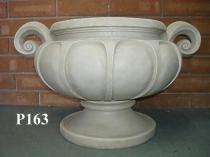Medium Scalloped Planter, Handle