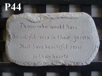 Plaque Rose Verse