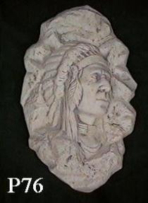 Plaque Indian Chief