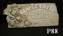 Welcome Rose Plaque