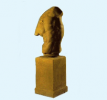 Apollo Torso On Plinth - Burnt Umber