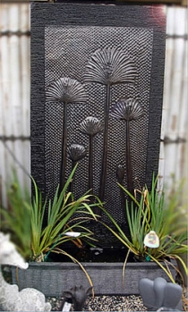 Papyrus Copper Wall Fountain