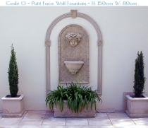 Putti Face Wall Fountain