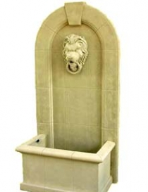 Sandstone Lion Fountain