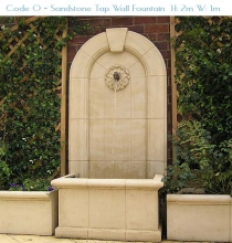 Sandstone Tap Wall Fountain
