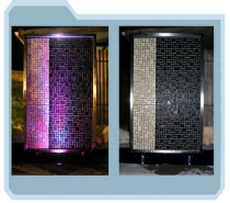 Tiled Stainless Steel Wall Panel