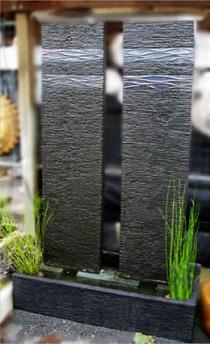 Twin Pillar Wall Fountain