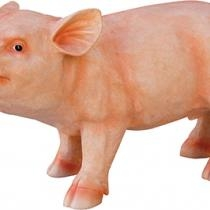 Sitting Pig Figurine