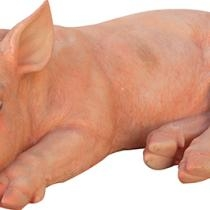 Sleeping Pig Figurine