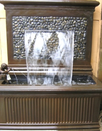 Pebbled Newington Cast Iron Finish Fountain