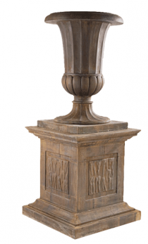 Fluted Bell Urn With Plinth