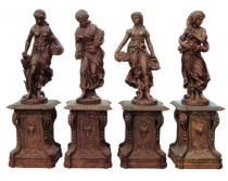 Four Seasons Statues Set