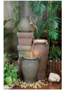 Fibreglass Pottery Urns Fountain
