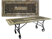 Code CE - Sunray Rectangular Slate Table