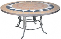 Code CE - TILED Hacienda Table with-w-iron Base