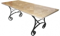 Code CE -Atlantic Travertine Table