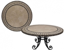 Code CE - Neptune Travertine Mosaic Table