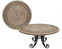 Code CE -Poseidon Travertine Mosaic Table