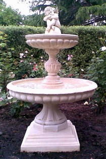 Ashton Fountain With Cherub Top Piece