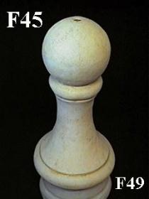 Ball Finial Tall-Code N-F45   or Code Y Bari Sphere-#GF011