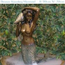 Bronze Kneeling Mermaid