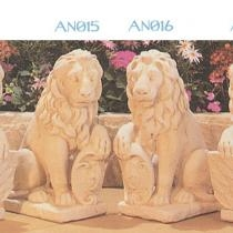 Lions with Shields