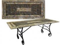 Code CE - Sunray Rectangular Slate Table
