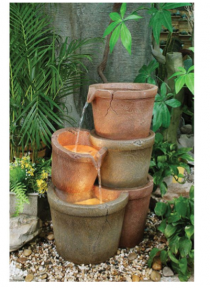 Fibreglass Terracotta Pots Fountain