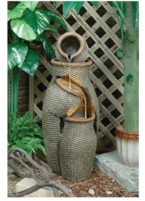 Fibreglass Twine Urns Fountain